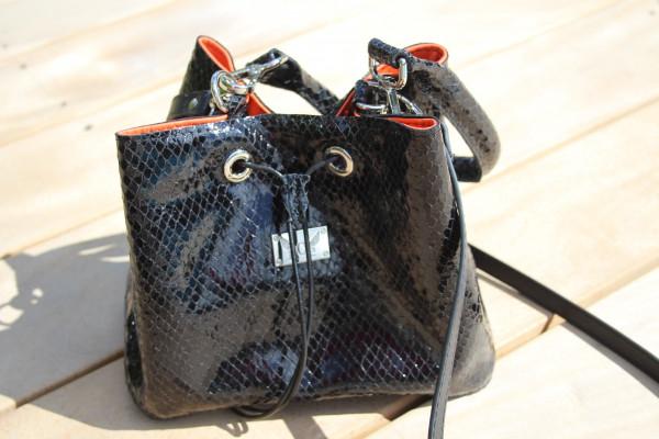 Artikelbild 1 des Artikels schwarzer Leder Beutel Handtasche
