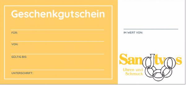 Artikelbild 1 des Artikels Sandtvos Uhren und Schmuck Gutschein € 25,-