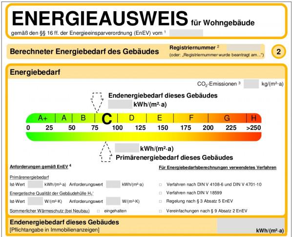 Artikelbild 1 des Artikels Energieausweis verbrauchsorientiert 3-5 WE